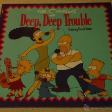 Discos de vinilo: THE SIMPSONS ( DEEP, DEEP TROUBLE 2 VERSIONES - SPRINGFIELD SOUL STEW ) 1990-GERMANY MAXI45 . Lote 53682395