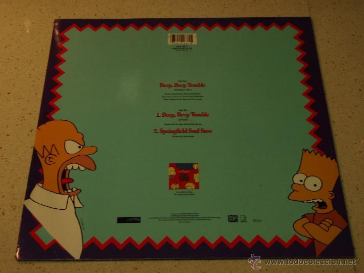 Discos de vinilo: THE SIMPSONS ( DEEP, DEEP TROUBLE 2 VERSIONES - SPRINGFIELD SOUL STEW ) 1990-GERMANY MAXI45 - Foto 2 - 53682395