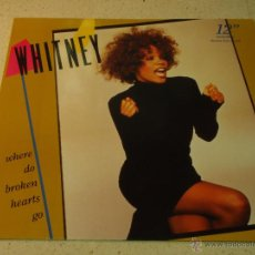 Discos de vinilo: WHITNEY HOUSTON ( WHERE DO BROKEN HEARTS GO - WHERE YOU ARE - DIDN'T WE ALMOST HAVE IT ALL ) 1987. Lote 53683318