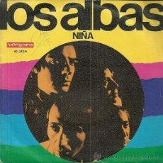 Discos de vinilo: LOS ALBAS SINGLE SELLO VERGARA EDITADO EN ESPAÑA AÑO 1969. Lote 53683611