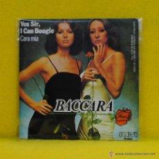 Discos de vinilo: BACCARA - YES SIR I CAN BOOGIE / CARA MIA (MAYTE MATEOS MARIA MENDIOLA). Lote 53688860