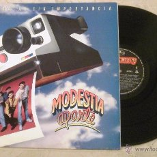 Discos de vinilo: LP - MODESTIA APARTE - HISTORIAS SIN IMPORTANCIA - MERCURY 1991 -. Lote 53692932