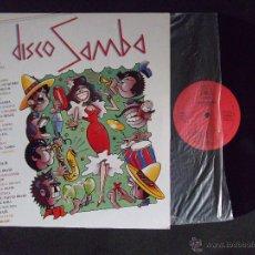 Discos de vinilo: DISCO SAMBA-DISCO LP-LP1-MANU MANAOS-EL CHATO-1987. Lote 53704198