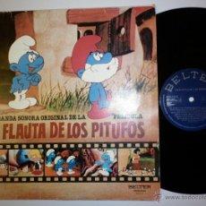 Discos de vinilo: LA FLAUTA DE LOS PITUFOS- BSO DE LA PELICULA. Lote 232464215