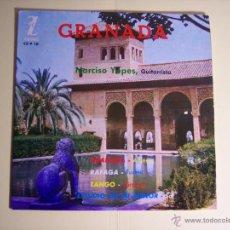 Discos de vinilo: EP DE 33 RPM. NARCISO YEPES (GRANADA / RAFAGA / TANGO / ESTUDIO EN MI MENOR() ZAFIRO-1963. Lote 53709093
