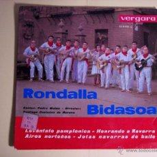 Discos de vinilo: EP RONDALLA BIDASOA (LEVANTATE PAMPLONA / HONRANDO A NAVARRA / + 2) VERGARA-1963. Lote 53709181