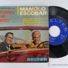 Discos de vinilo: MANOLO ESCOBAR UN BESO EN EL PUERTO SINGLE 45 RPM EDITA BELTER 1966 . Lote 53710900