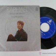 Discos de vinilo: RAPAHEL ALELUYA DEL SILENCIO SINGLE 45 RPM EDITA HIXPAVOX 1970 . Lote 53710943