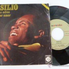 Discos de vinilo: BASILIO NO DIGAS ADIOS SINGLE 45 RPM EDITA MOVOLA 1969 . Lote 53711065