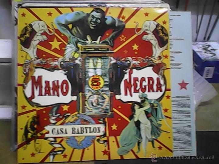MANO NEGRA - CASA BABYLON. LP (Música - Discos - LP Vinilo - Pop - Rock Extranjero de los 90 a la actualidad)