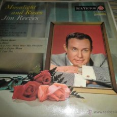 Discos de vinilo: JIM REEVES - MOONLIGHT AND ROSES LP - ORIGINAL INGLES - RCA VICTOR 1964 - MONO - MUY NUEVO (5). Lote 53720930
