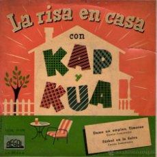 Discos de vinilo: KAP Y KUA - SINGLE 7'' - EDITADO EN ESPAÑA - DAME UN EMPLEO, TIMOTEO + FÚTBOL EN LA SELVA - REGAL. Lote 53731740