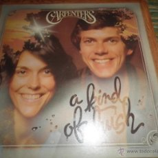 Discos de vinilo: CARPENTERS - A KIND OF HUSH LP - ORIGINAL INGLES - A&M RECORDS 1976 CON FUNDA INT. ORIGINAL. Lote 53732947