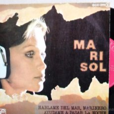 Discos de vinilo: MARISOL : HABLAME DEL MAR MARINERO+1 (ZAFIRO, SINGLE 1976). Lote 53743247