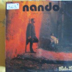 Discos de vinilo: LP - NANDO - AMOR Y VIENTO (SPAIN, PAÑOLETA RECORDS 1987). Lote 53748248