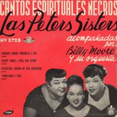 Discos de vinilo: PETERS SISTERS, EP , NOBODY KNOW TROUBLES I SEE + 3, AÑO 1958. Lote 53749442