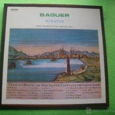 Discos de vinilo: BAGUER SONATAS JORDI VILAPRINYO DEL PERUGIA PIANO LP ETNOS 02-A-XXI NUEVO¡¡ PEPETO. Lote 53749645
