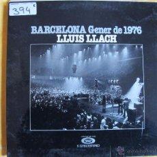 Vinyl-Schallplatten - lp - lluis llach - barcelona gener de 1976 (spain, movieplay 1976, portada doble) - 53749665