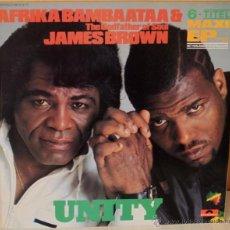 Discos de vinilo: AFRIKA BAMBAATAA & JAMES BROWN UNITY POLYDOR - 1984. Lote 53758407