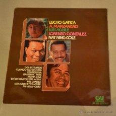 Discos de vinilo: LUCHO GATICA, A. MANZANERO, LUIS AGUILE, LORENZO GONZALEZ, NAT KING COLE. GRAMUSIC 1975. LITERACOMIC. Lote 53766853