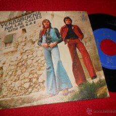 Discos de vinilo: YERBABUENA POR LAS CALLES/CITA DE 6 A 8 7 SINGLE 1976 HISPAVOX. Lote 53775830