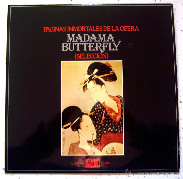 LP. VINILO . PÁGINAS INMORTALES DE MADAMA BUTTERFLY. GRAMUSIC 1975 (Música - Discos - LP Vinilo - Clásica, Ópera, Zarzuela y Marchas)