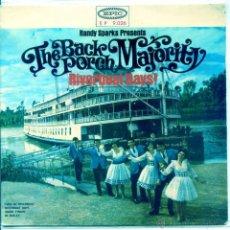 Discos de vinilo: THE BACK PORCH MAJORITY / VIEJO BARCO DEL RIO / RIVERBOAT DAYS + 2 (EP 1965). Lote 53786043
