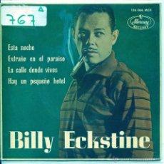 Discos de vinilo: BILLY ECKSTIME / ESTA NOCHE / LA CALLE DONDE VIVES + 2 (EP 1963). Lote 53786077