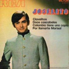 Discos de vinilo: JOSELITO, EP , CLAVELITOS + 3, AÑO 1962. Lote 53805790