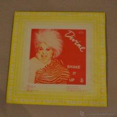Discos de vinilo: DIVINE. SHAKE IT UP. MAXI SINGLE. HISPAVOX 1983. LITERACOMIC.. Lote 53807890