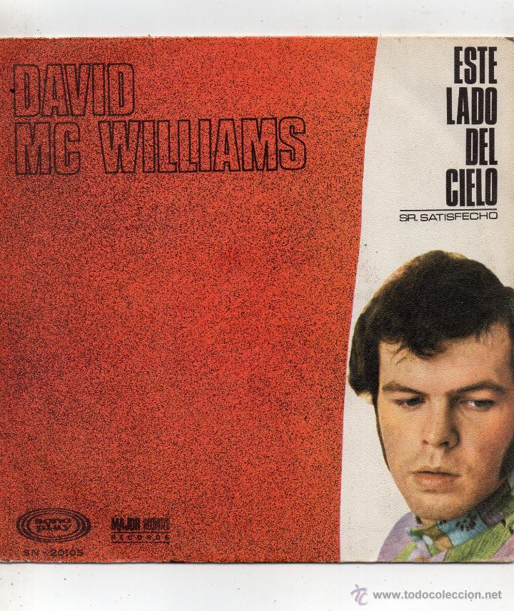 DAVID MC WILLIAMS, SG , THIS SIDE OF HEAVEN + 1, AÑO 1968 (Música - Discos - Singles Vinilo - Pop - Rock Extranjero de los 50 y 60)