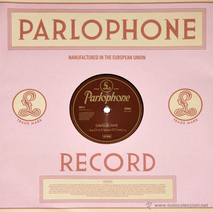 Discos de vinilo: DAVID BOWIE * SUE * VINILO DE 10 PULGADAS * RARE - Foto 2 - 192103960