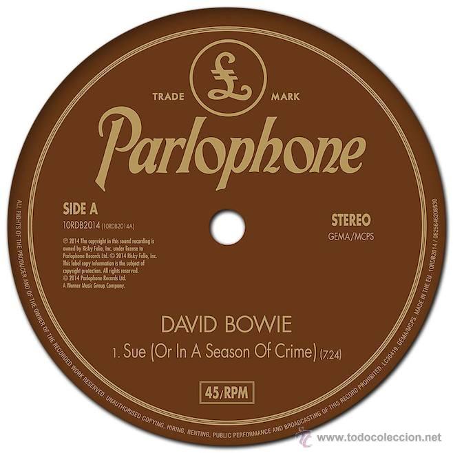 Discos de vinilo: DAVID BOWIE * SUE * VINILO DE 10 PULGADAS * RARE - Foto 3 - 192103960