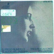Discos de vinilo: JOAN BAEZ / EL PRESO NUMERO NUEVE / OH, LIBERTAD + 2 (EP 1968). Lote 53825574