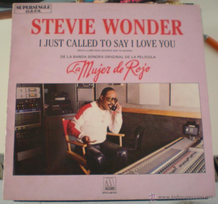 STEVIE WONDER - I JUST CALLED - BSO - LA MUJER DE ROJO (Música - Discos de Vinilo - Maxi Singles - Bandas Sonoras y Actores)