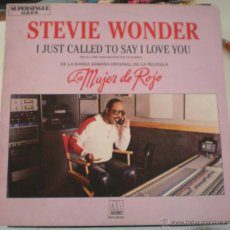 Discos de vinilo: STEVIE WONDER - I JUST CALLED - BSO - LA MUJER DE ROJO. Lote 53825604