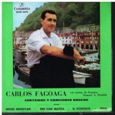 Discos de vinilo: CARLOS FAGOAGA - MENDI MENDIYAN / ENE IZAR MAITEA / EL RONCALES / PENA - EP 1969 - BUEN ESTADO. Lote 53827827