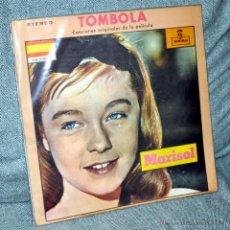"""Discos de vinilo: MARISOL - LP VINILO 12"""" - EDITADO EN COLOMBIA - TÓMBOLA - 12 TRACKS - MONTILLA 1962. Lote 53828915"""