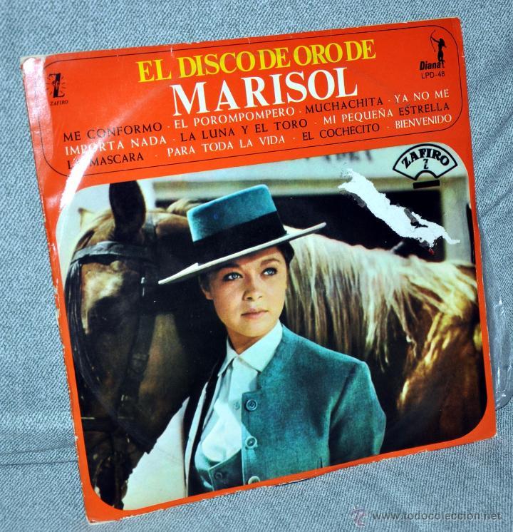 """MARISOL - LP VINILO 12"""" - EDITADO EN MÉXICO / MÉJICO - EL DISCO DE ORO - 12 TRACKS - ZAFIRO / DIANA (Música - Discos - LP Vinilo - Solistas Españoles de los 70 a la actualidad)"""