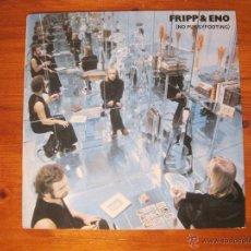 Discos de vinilo: FRIPP & ENO LP-NO PUSSY FOOTING EG EDITIONS. Lote 53837667