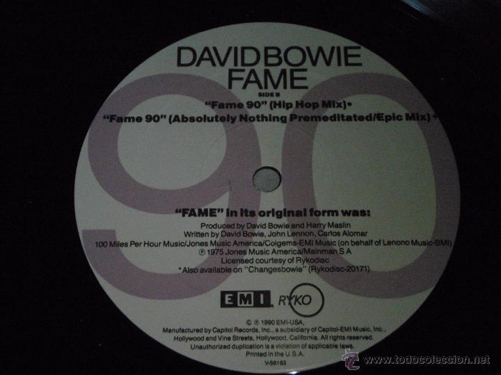 Discos de vinilo: DAVID BOWIE FILM PRETTY WOMAN ( FAME 90 ) USA-1990 LP33 EMI - Foto 4 - 5039459