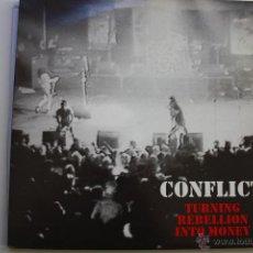 Discos de vinilo: CONFLICT- TURNING REBELION INTO MONEY- UK 2 LP 1987- GATEFOLD- VINILOS COMO NUEVOS.. Lote 53844457