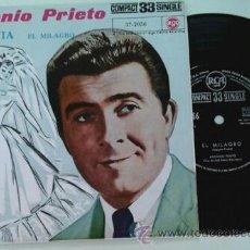 Discos de vinilo: ANTONIO PRIETO -SG- LA NOVIA + 1 RARE SPAIN 60'S. Lote 53846955