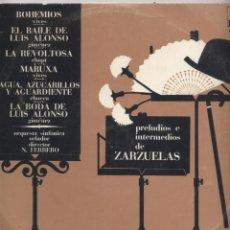 Discos de vinilo: PRELUDIOS E INTERMEDIOS DE ZARZUELAS. Lote 53847578