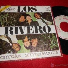 Discos de vinilo: LOS RIVERO PALMADITAS/SOLAMENTE PARA TI 7 SINGLE 1970 ZAFIRO PROMO. Lote 53850473