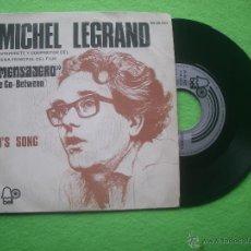 Discos de vinilo: MICHEL LEGRAND EL MENSAJERO SINGLE SPAIN 1972 PDELUXE. Lote 53867577