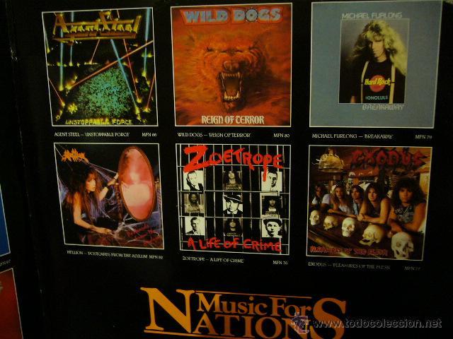 Discos de vinilo: NIGHTMARE ON CARNABY ST. 2 LP MUSIC FOR NATIONS. EXODUS.AGENT STEEL.WILD DOGS.STRYPER.TIGERTAILZ.... - Foto 4 - 53872108