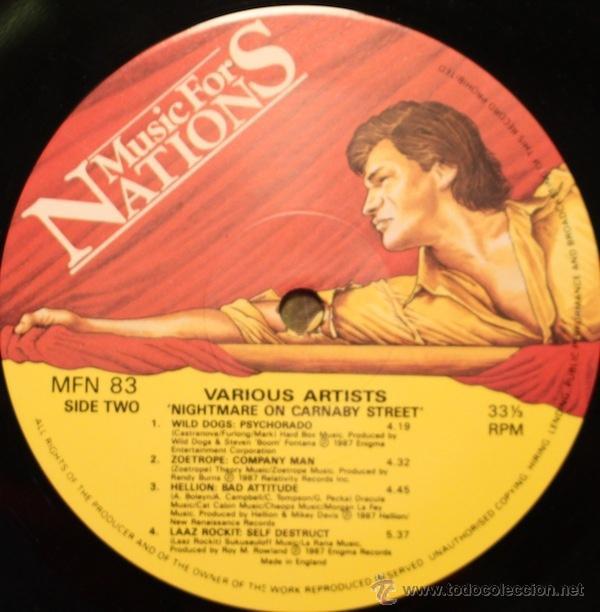 Discos de vinilo: NIGHTMARE ON CARNABY ST. 2 LP MUSIC FOR NATIONS. EXODUS.AGENT STEEL.WILD DOGS.STRYPER.TIGERTAILZ.... - Foto 7 - 53872108