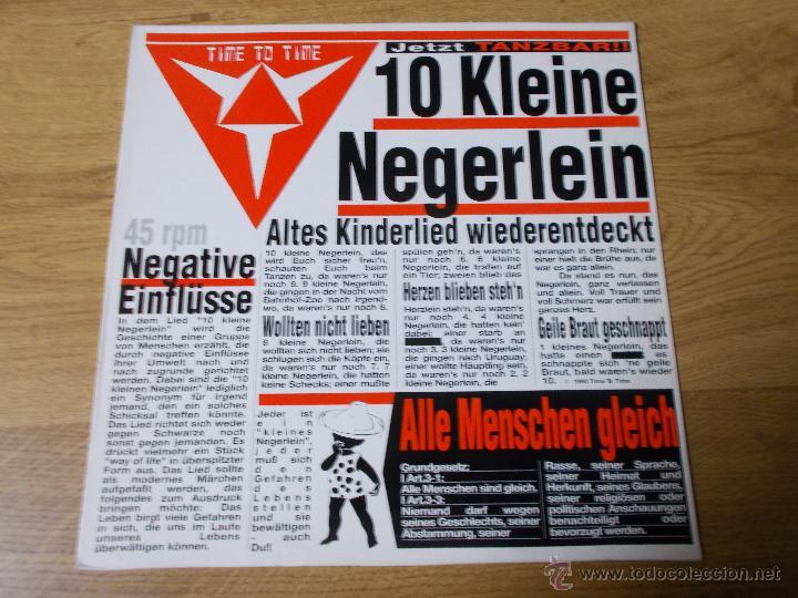TIME TO TIME. 10 KLEINE NEGERLEIN. (Música - Discos de Vinilo - Maxi Singles - Techno, Trance y House)