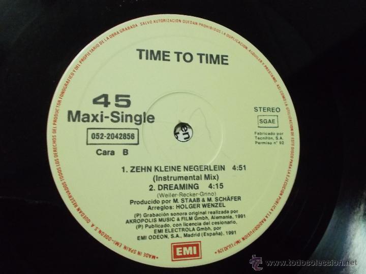 Discos de vinilo: TIME TO TIME. 10 KLEINE NEGERLEIN. - Foto 2 - 53872196